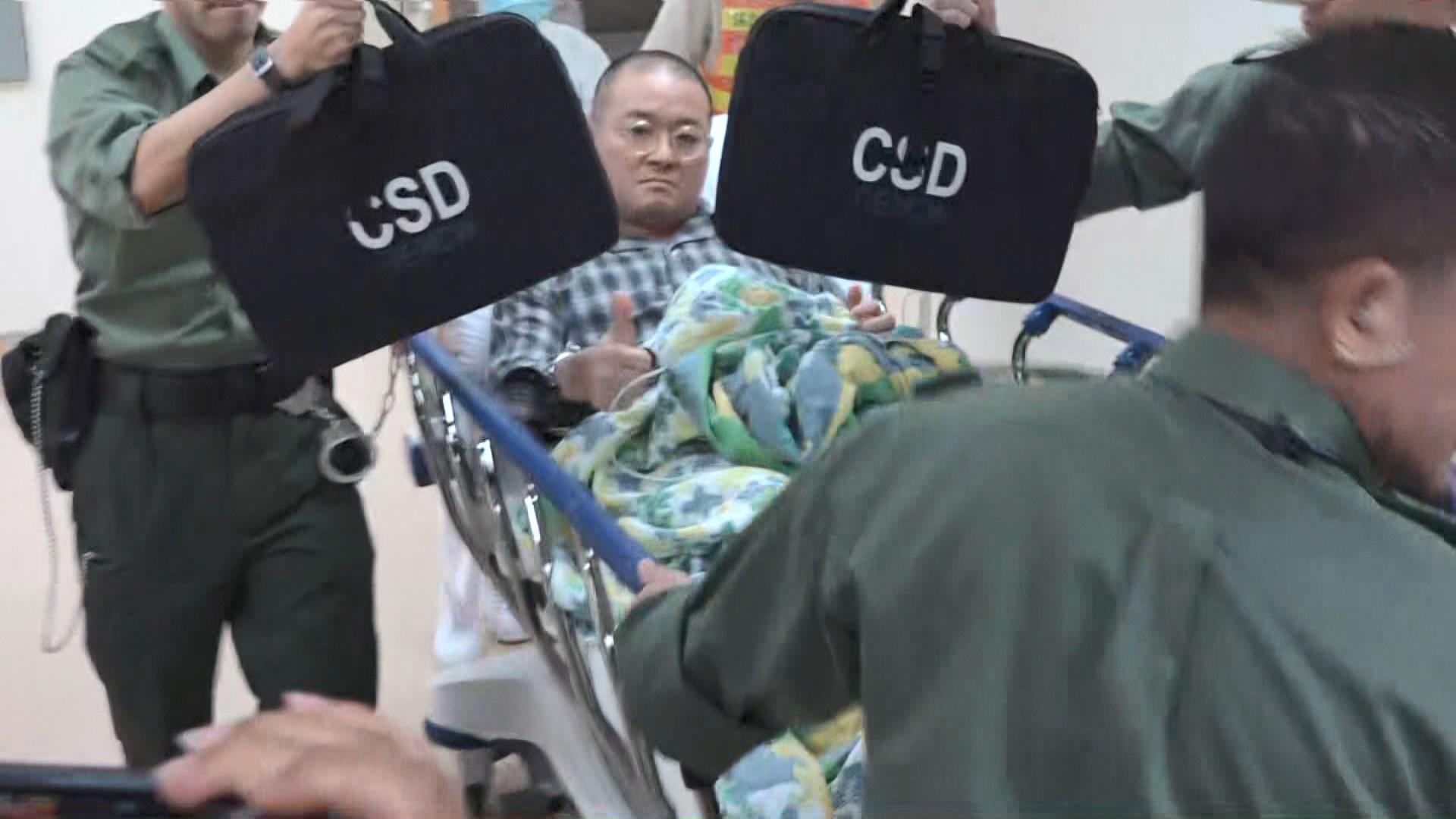 邵家臻繼續在醫院羈留病房留醫