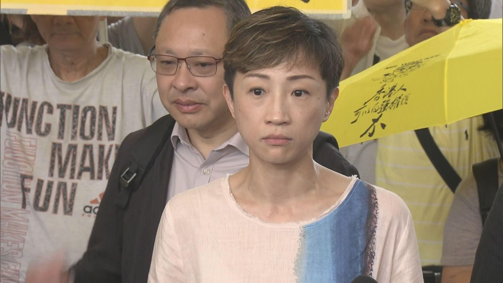 陳淑莊懷疑遭便衣警跟蹤 促警方交代