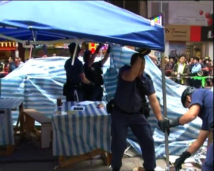 警方已清拆銅鑼灣佔領區所有障礙物