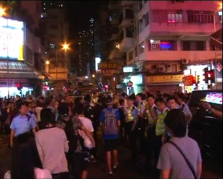 示威者往不同橫街再聚集 開闢戰線