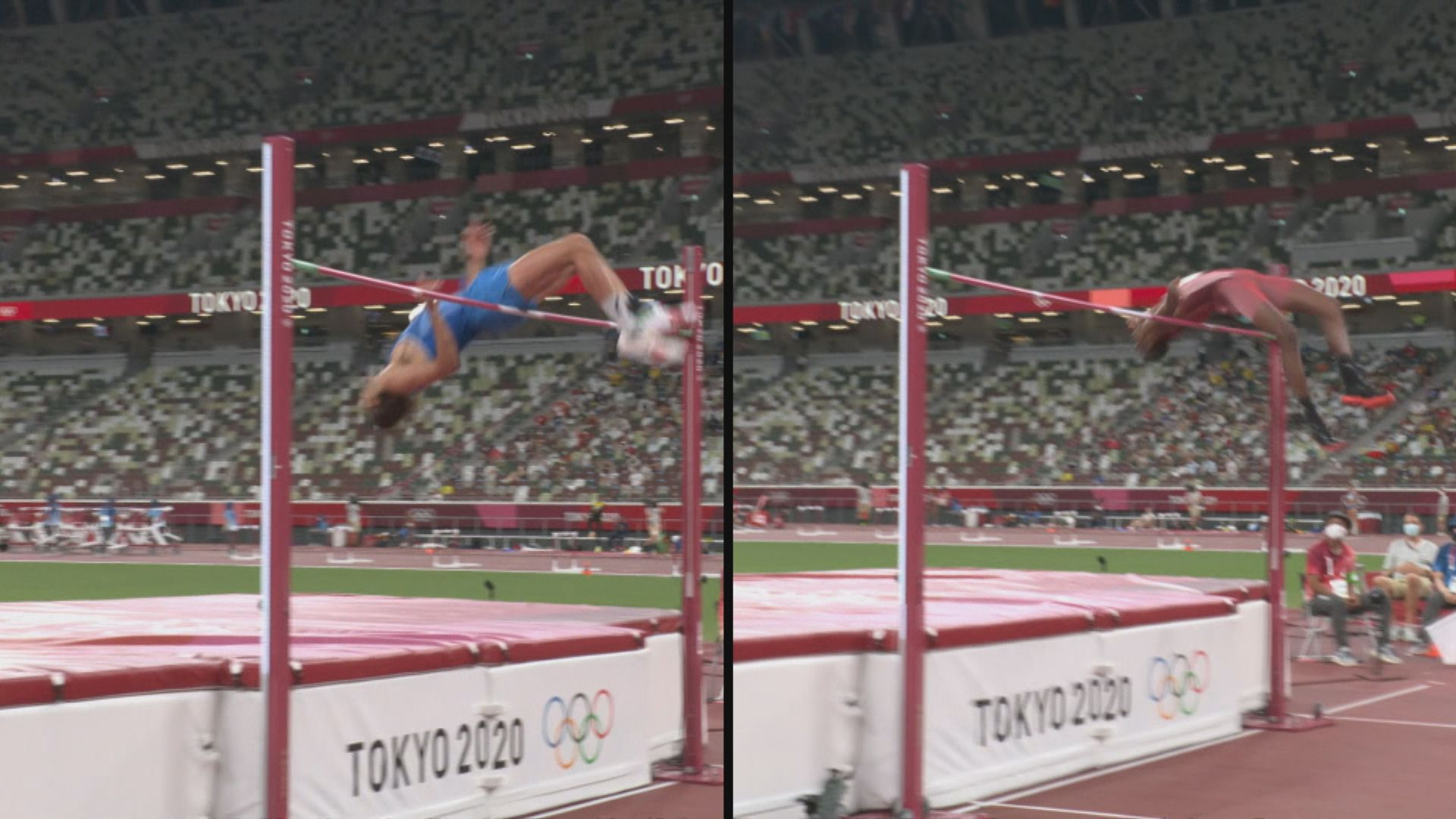 男子跳高出現雙冠軍