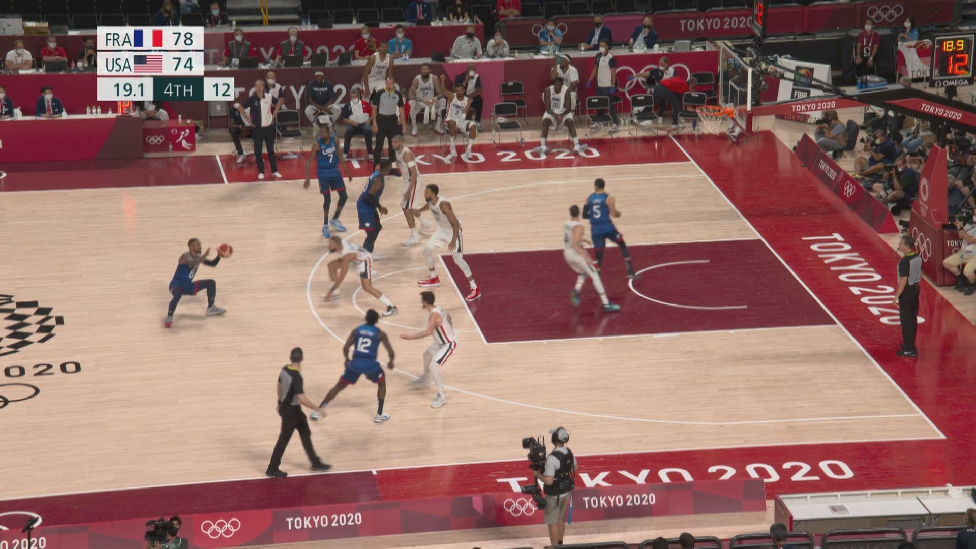籃球 法國83:76美國