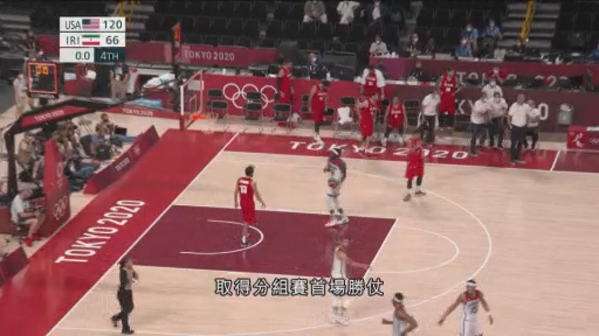 男籃 美國120:66伊朗