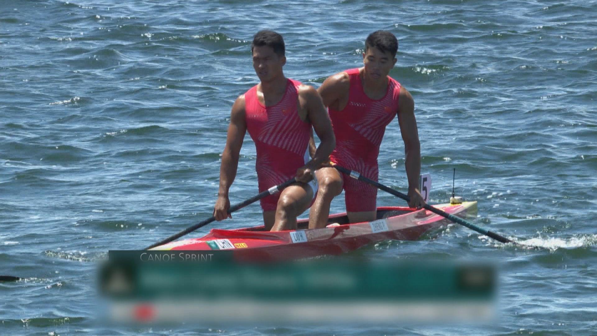 男子1000米雙人划艇靜水項目 中國隊奪得銀牌