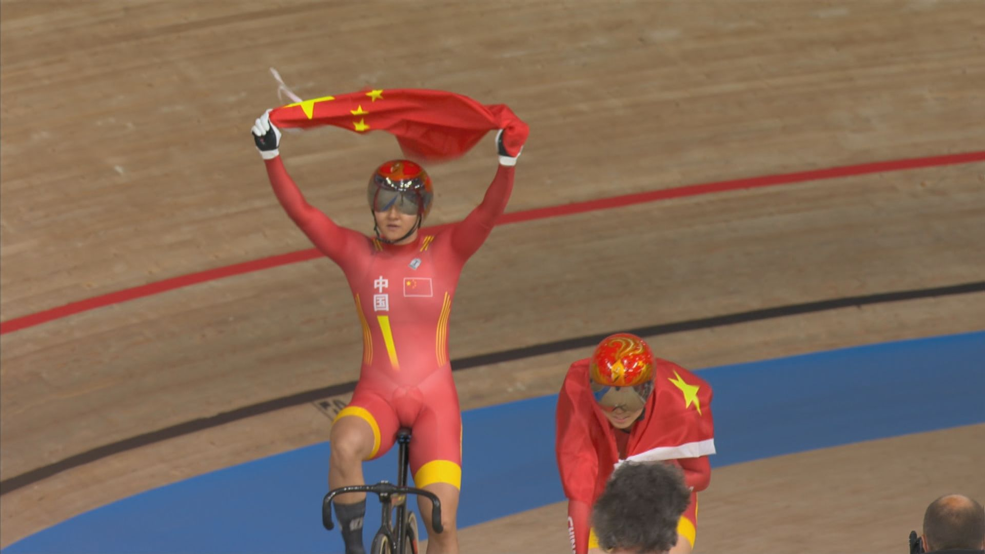 場地單車女子團體爭先賽 國家隊奪金