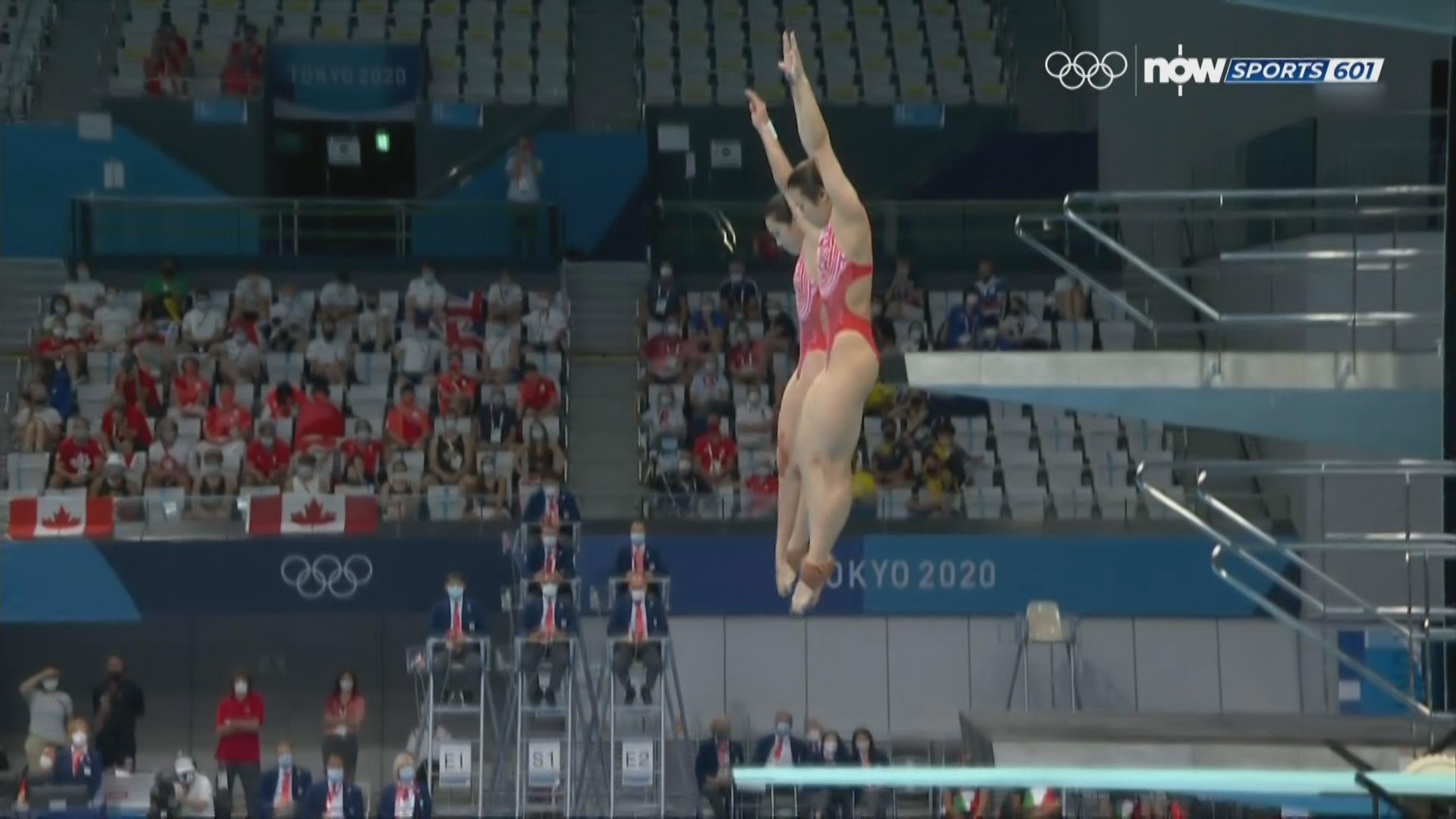 女子雙人三米板跳水國家隊輕鬆奪金
