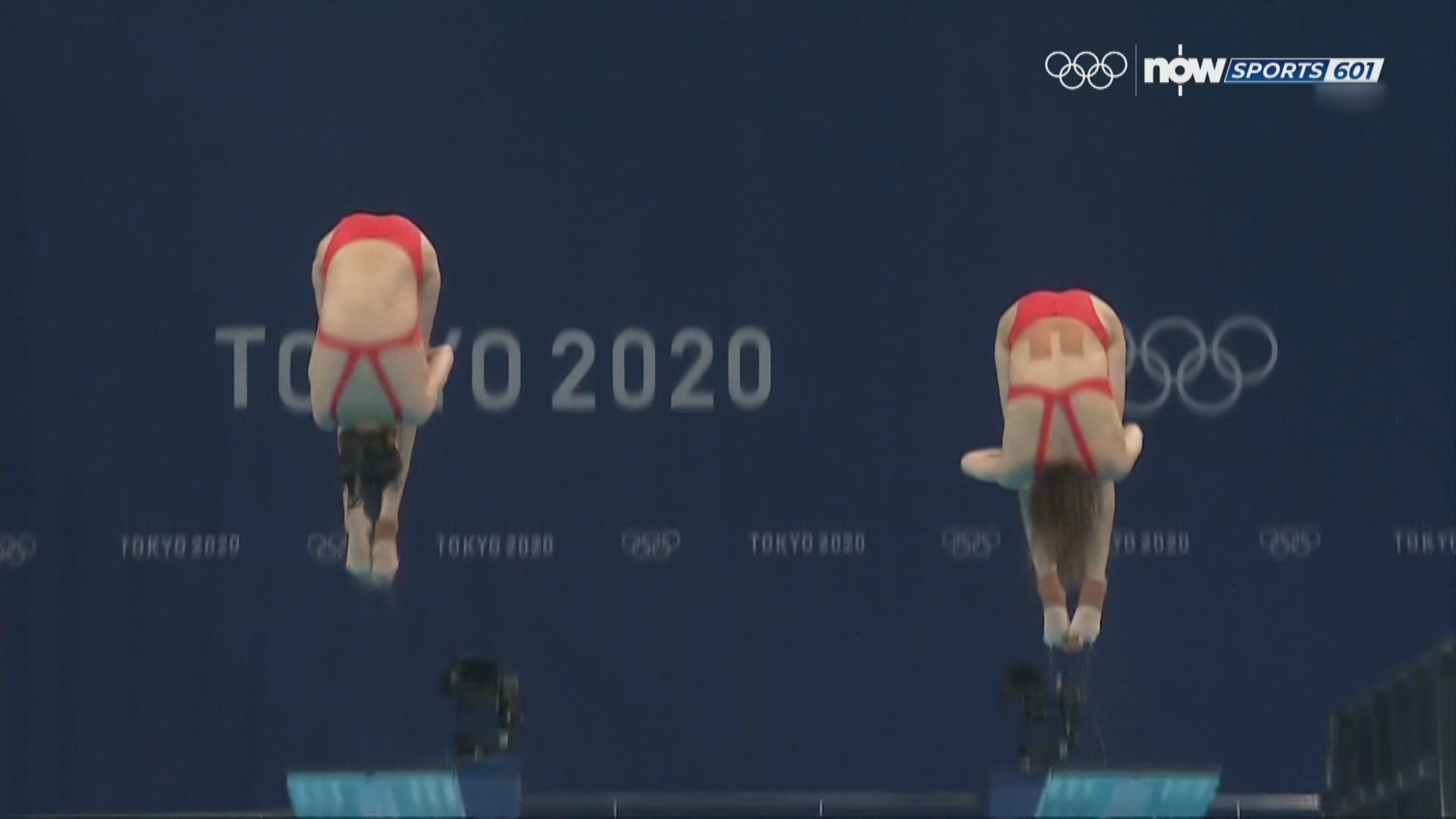 女子雙人三米板跳水國家隊奪金