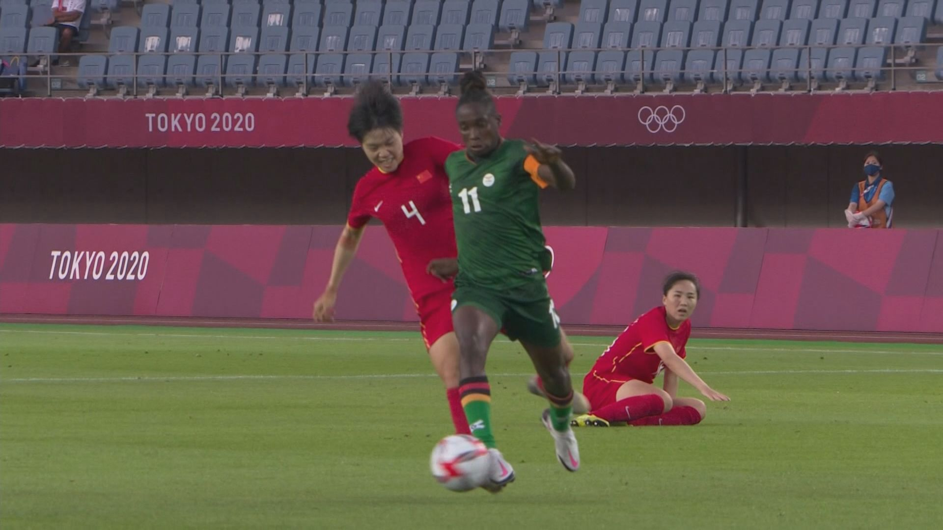 女足分組賽F組 中國4:4贊比亞
