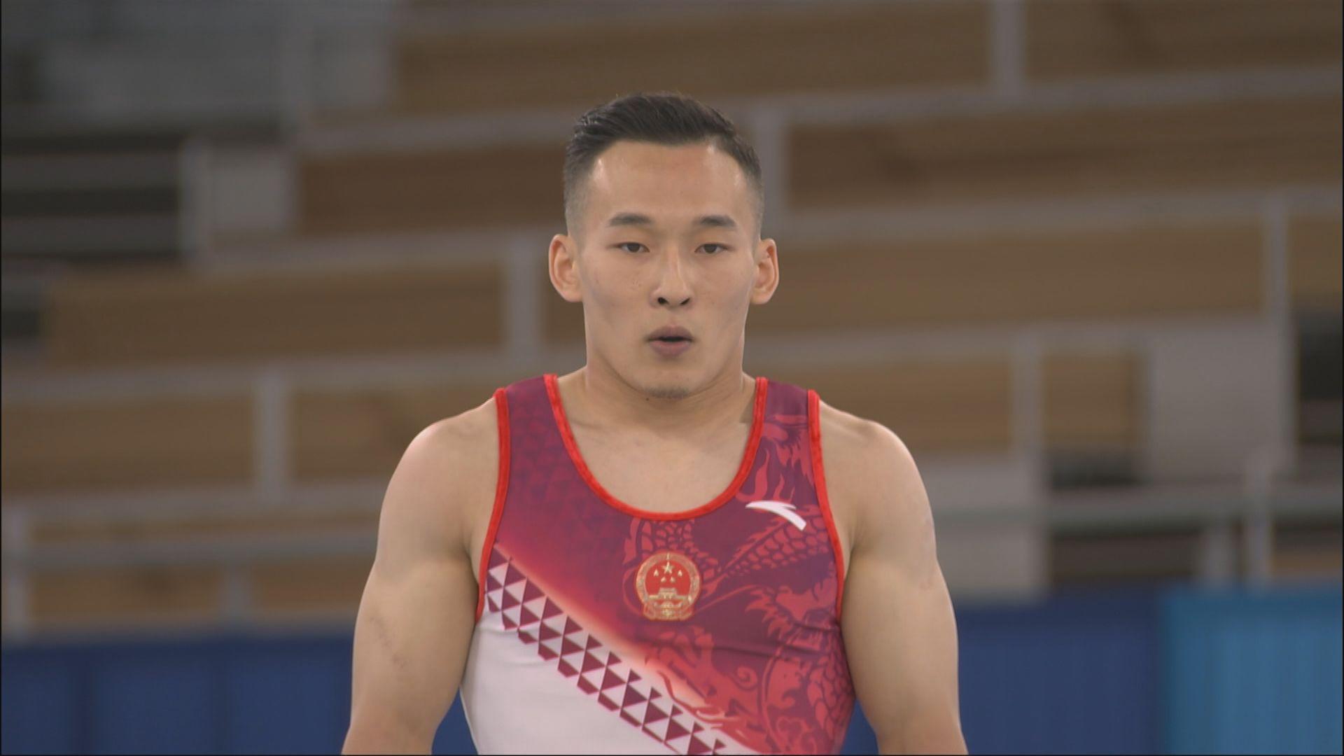 蕭若騰在男子自由體操奪銅