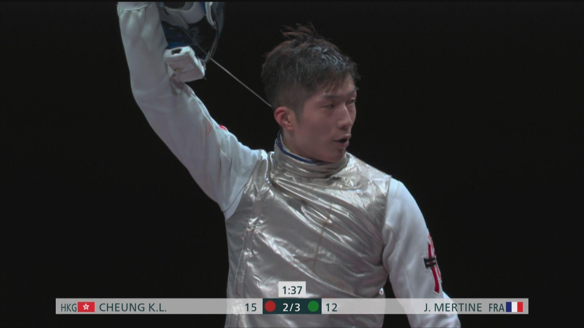 張家朗蔡俊彥男子花劍雙雙晉級16強