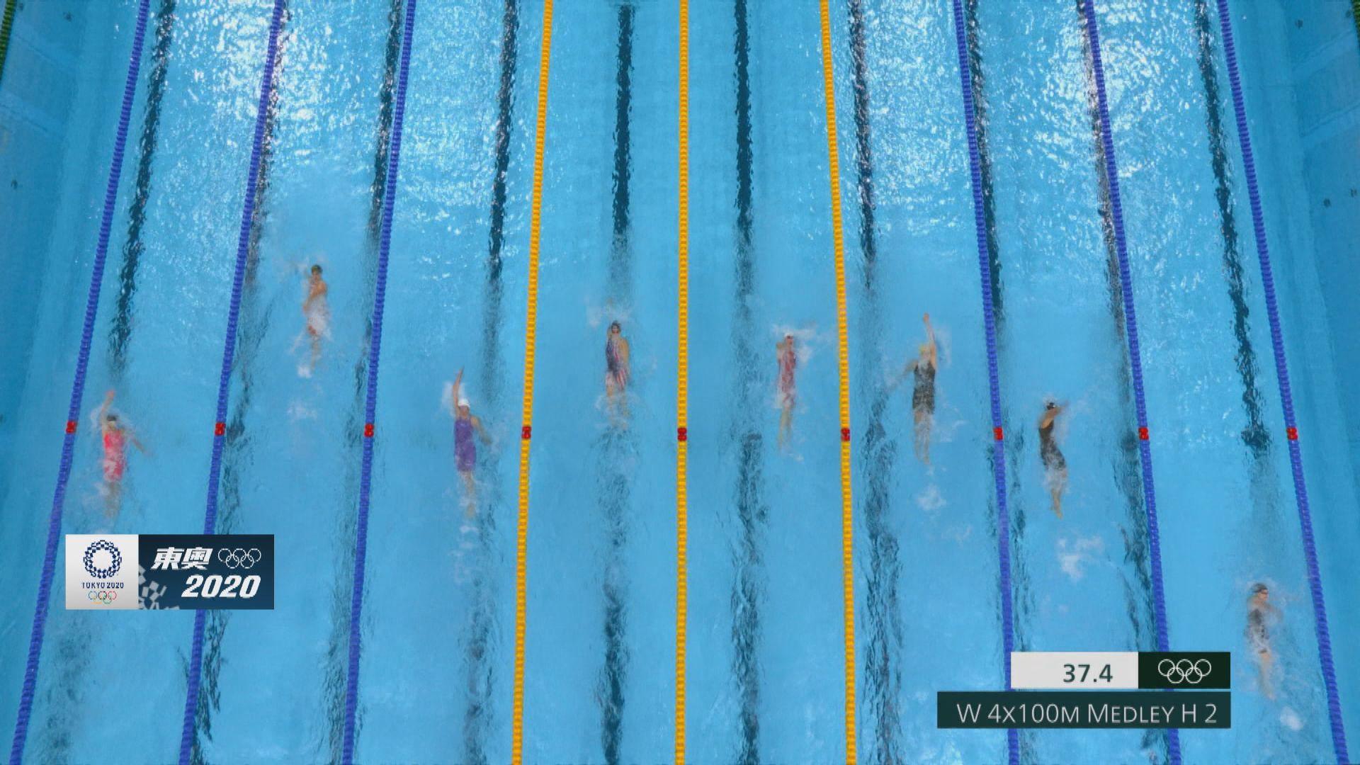 女子4X100米混合泳接力 港隊未能躋身決賽