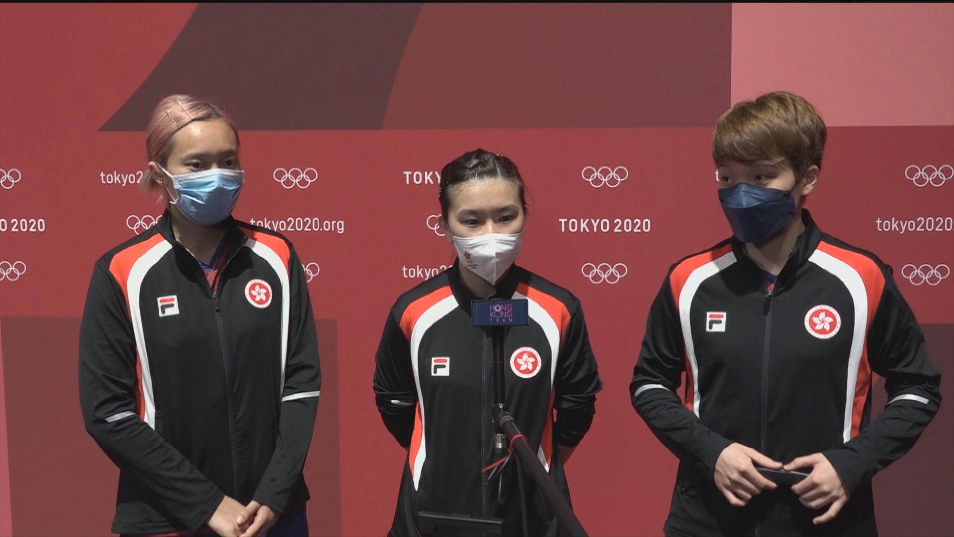 奧運女子乒乓球團體賽 香港0:3日本