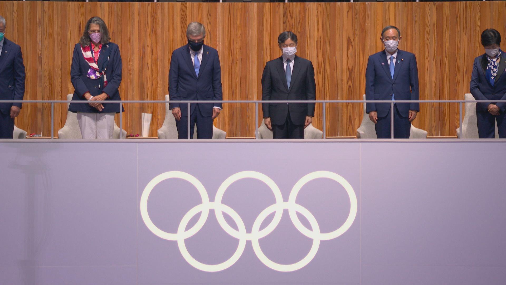 東京奧運舉行開幕禮 為染疫死者默哀及表揚醫護人員