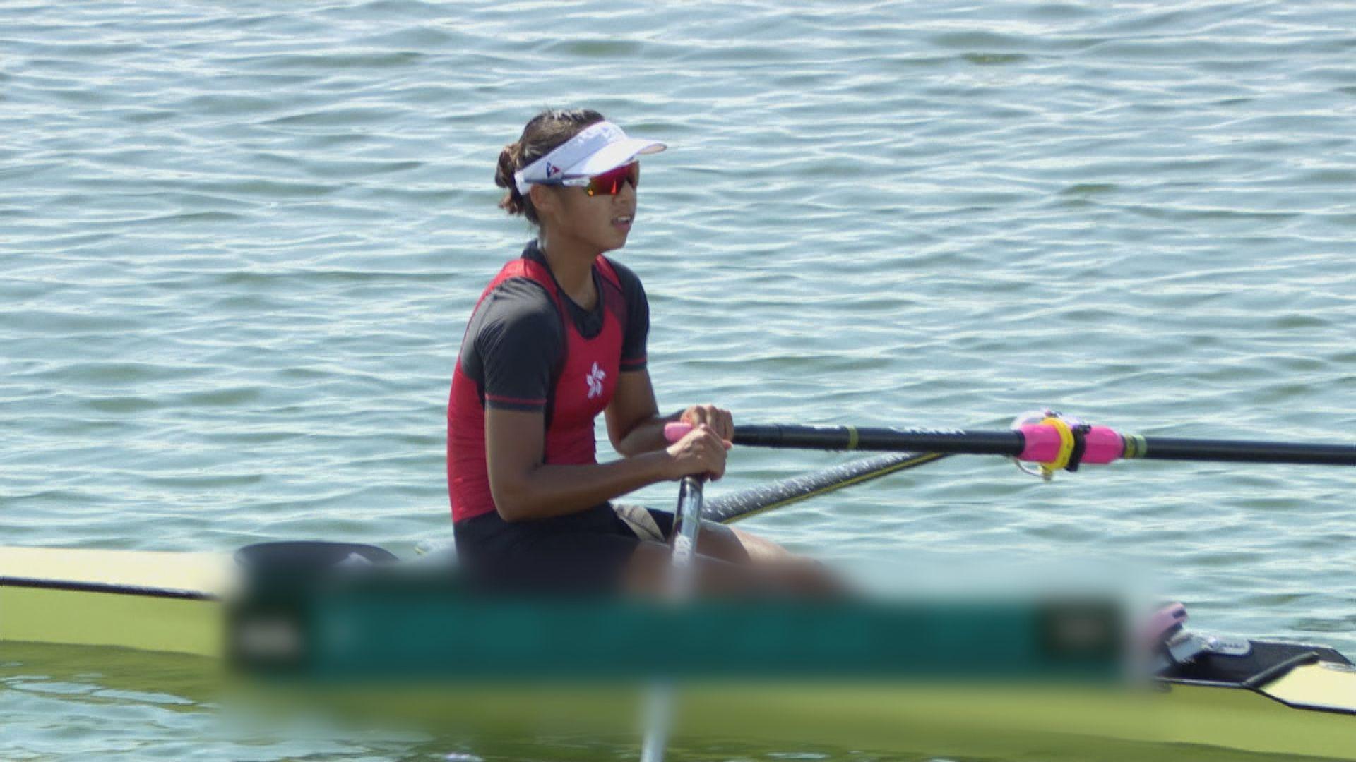 女子單人雙槳賽艇 洪詠甄成功透過復活賽躋身半準決賽