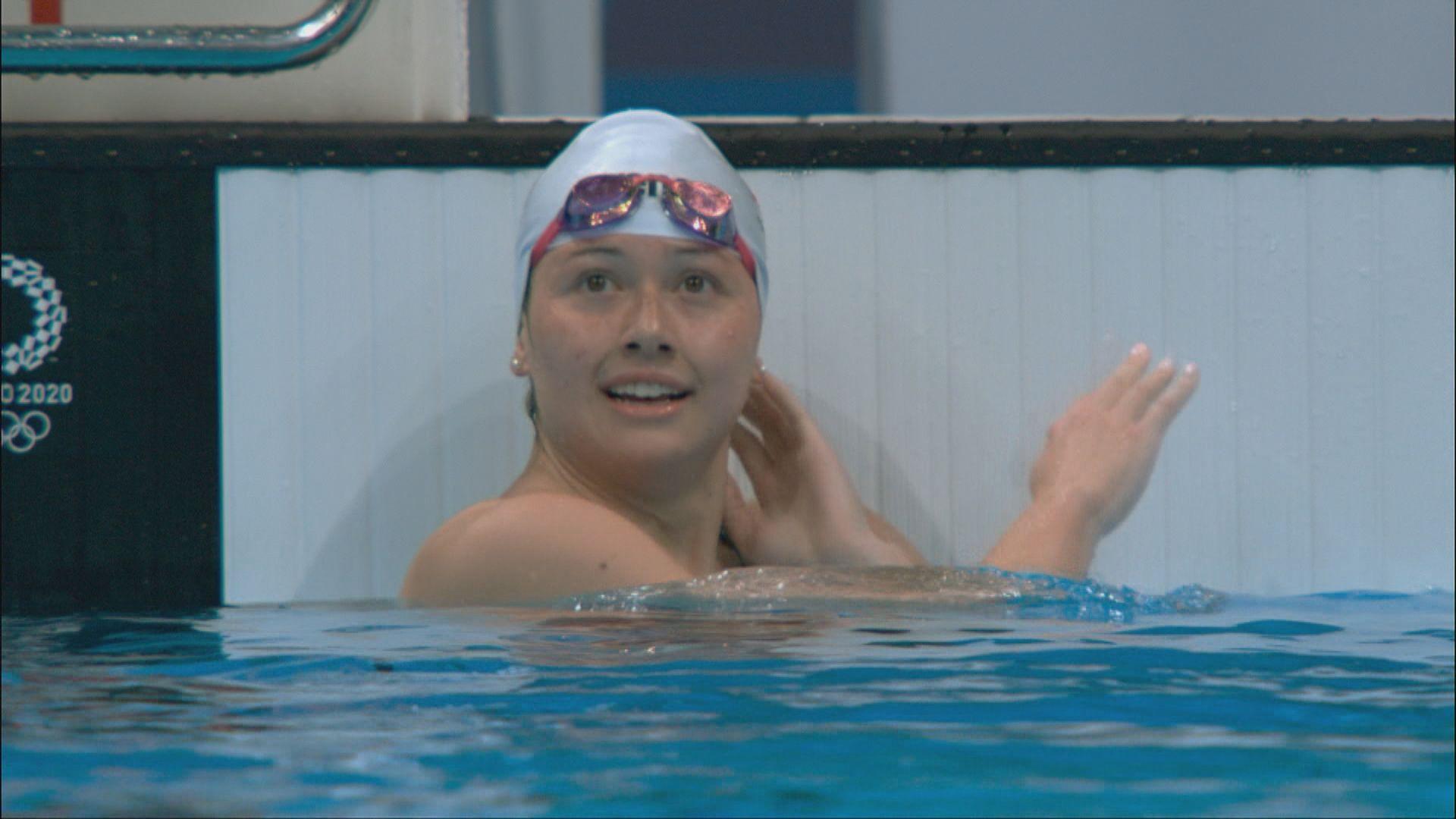 何詩蓓女子一百米自由泳總成績第二名入決賽