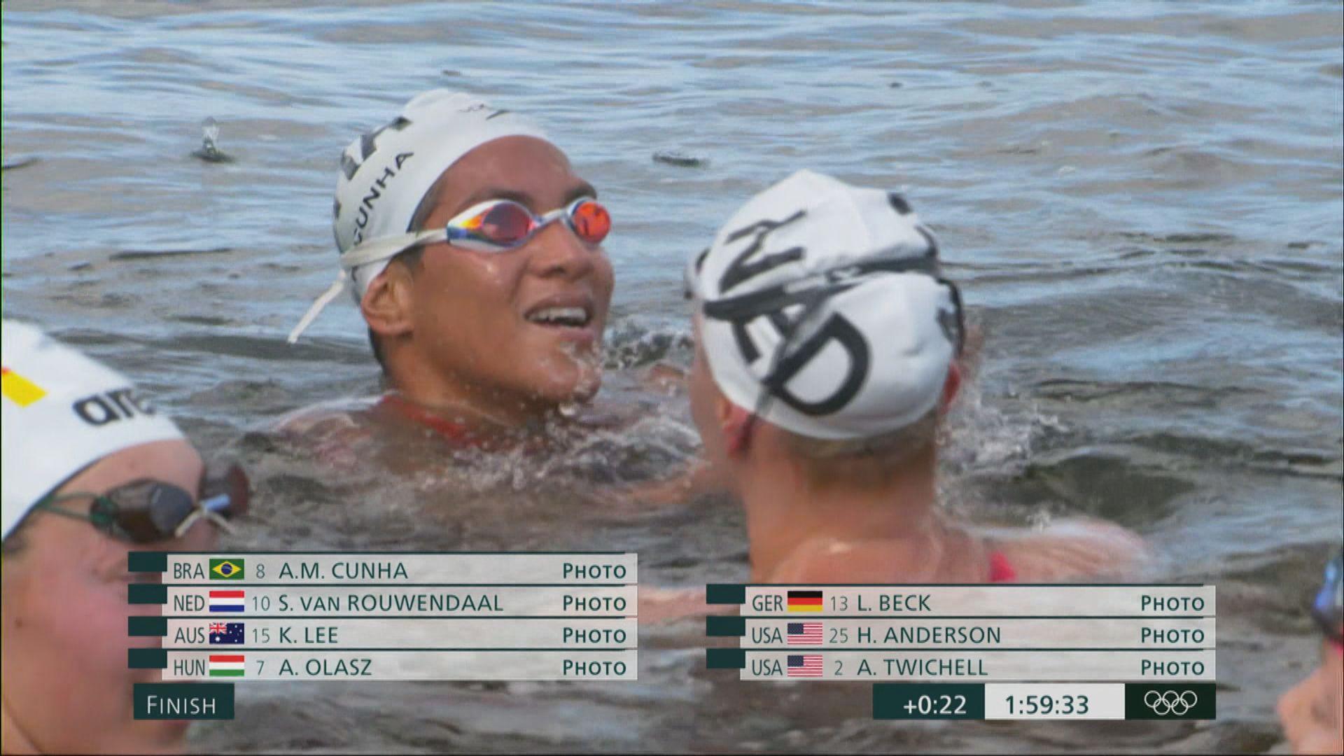 女子游泳馬拉松巴西古妮亞奪冠 中國辛鑫得第八