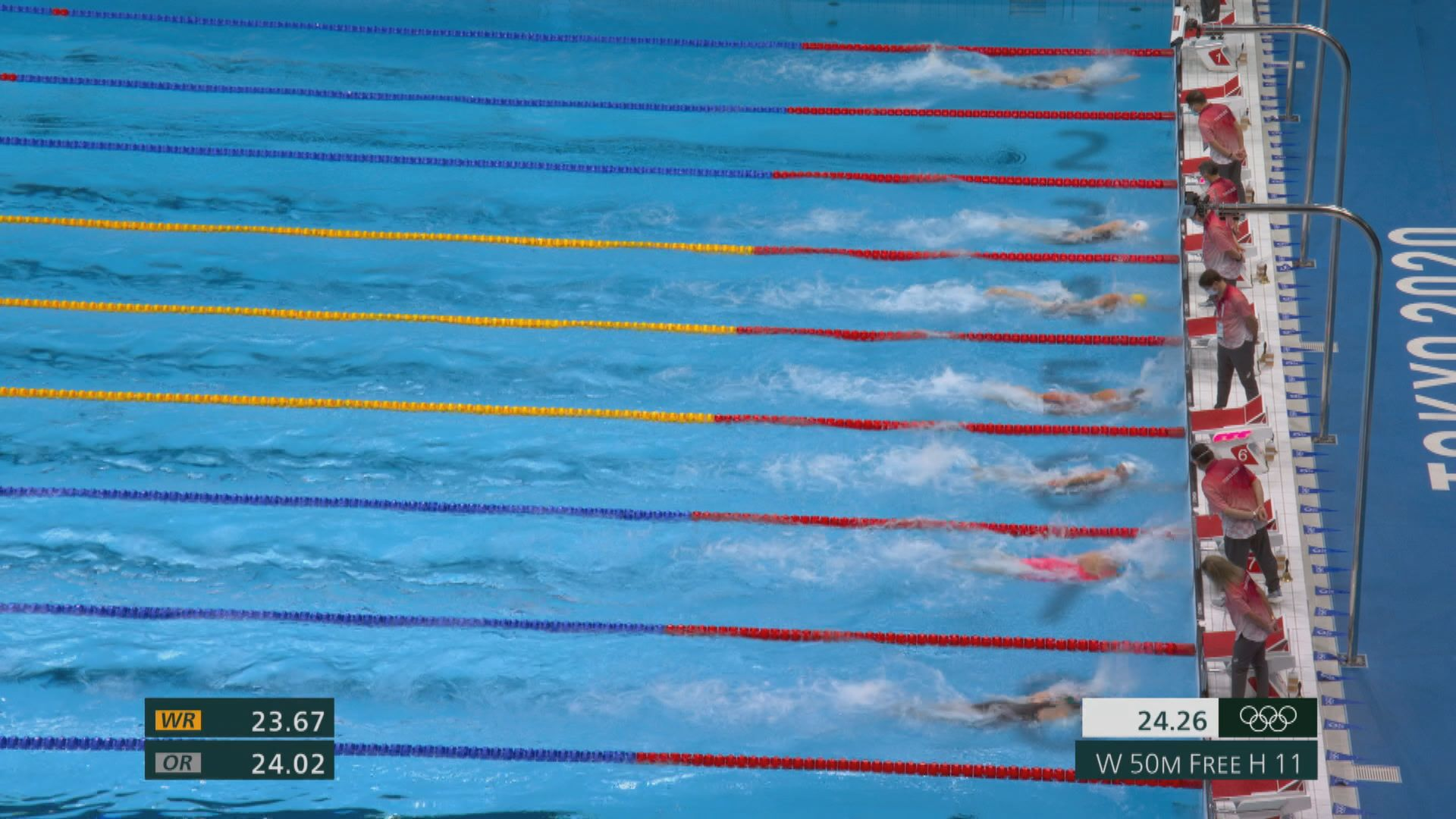 女子50米自由泳何詩蓓躋身準決賽