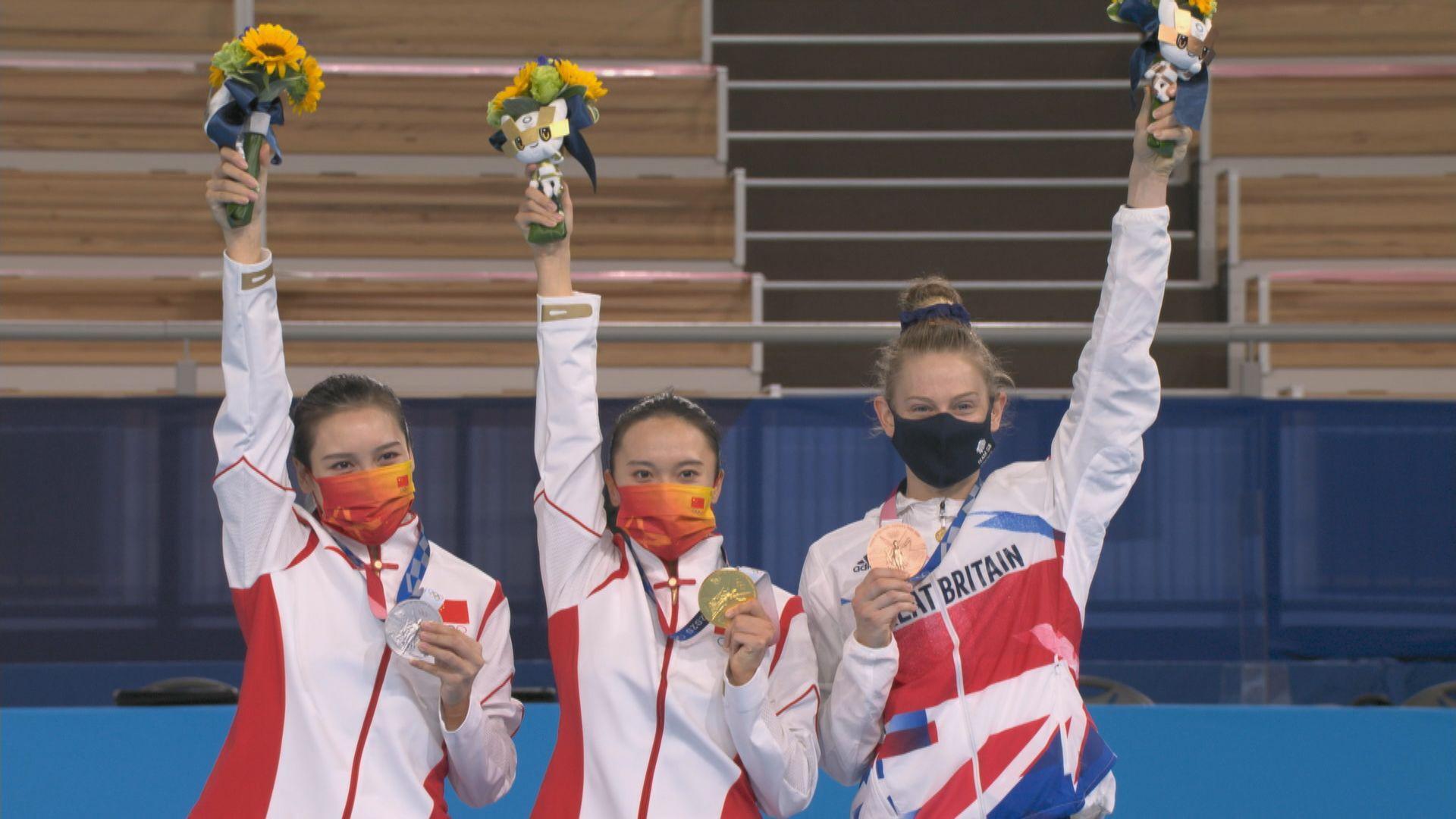 女子彈床 國家隊朱雪瑩和劉靈玲包辦金銀牌