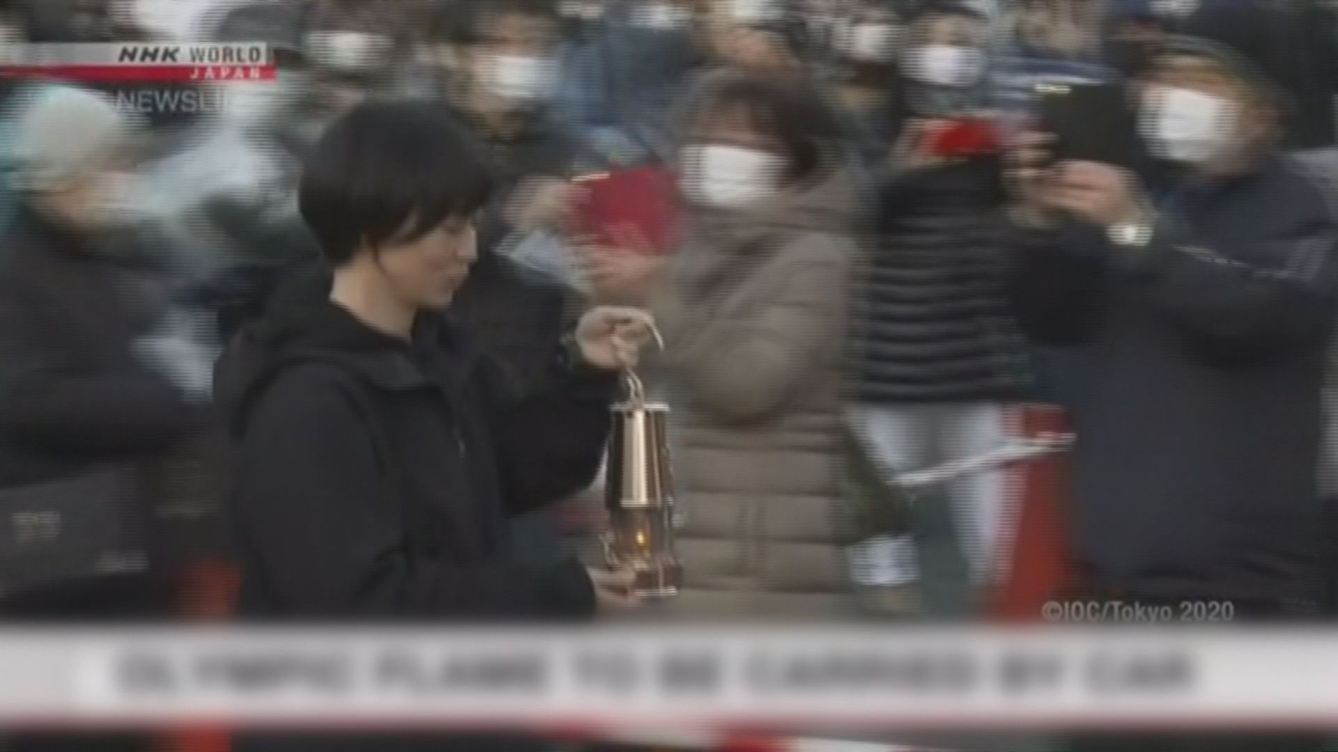 東京奧運聖火取消火炬手接力