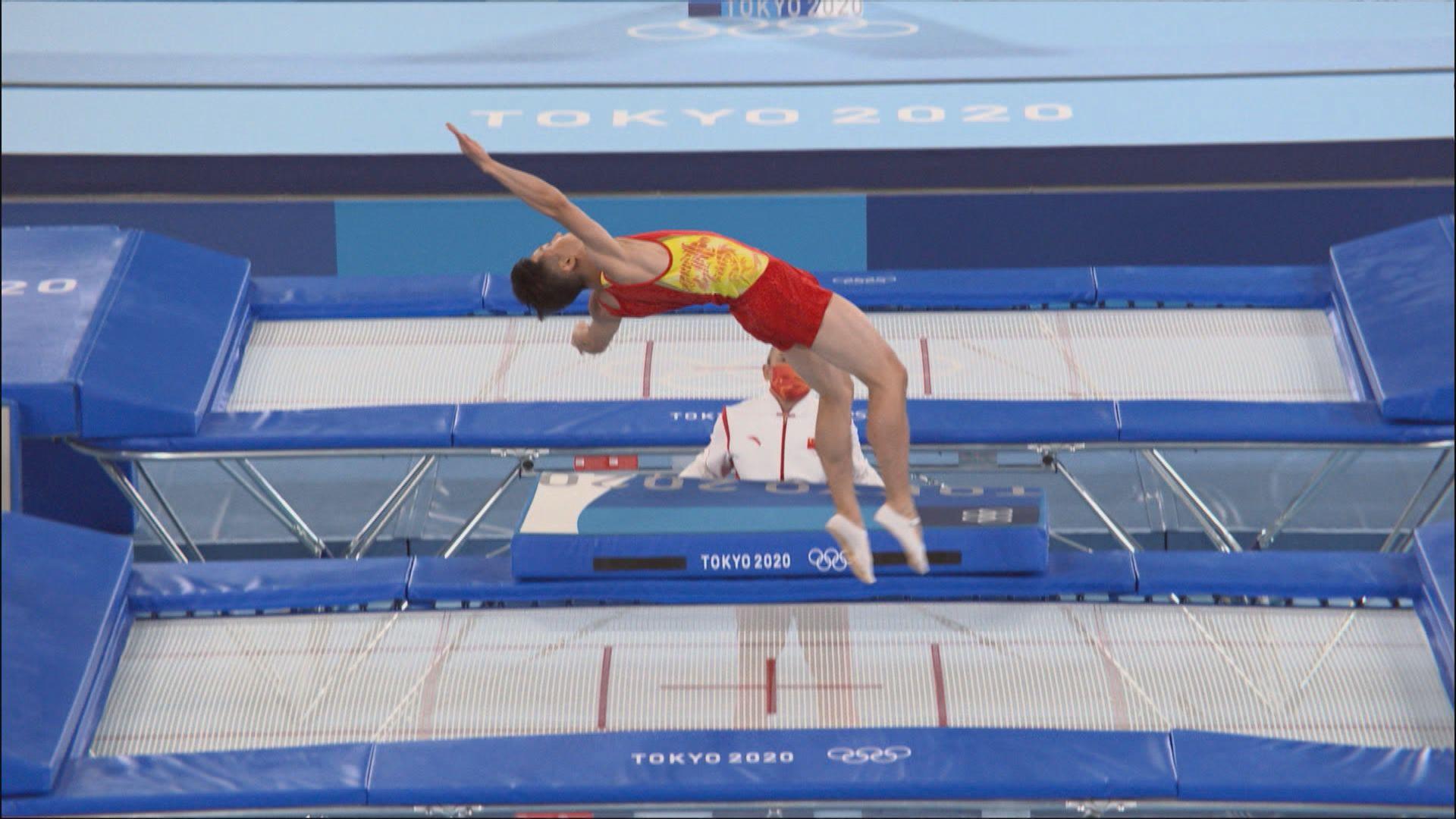奧運男子彈床決賽 國家隊董棟奪得銀牌