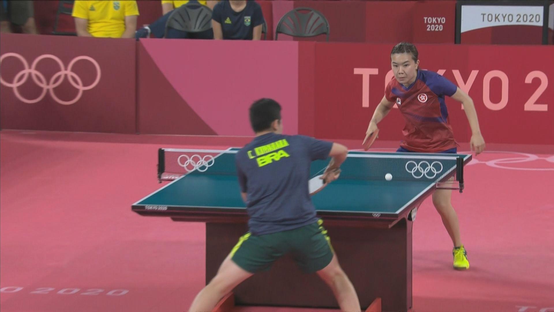 港隊乒乓球女團八強對羅馬尼亞