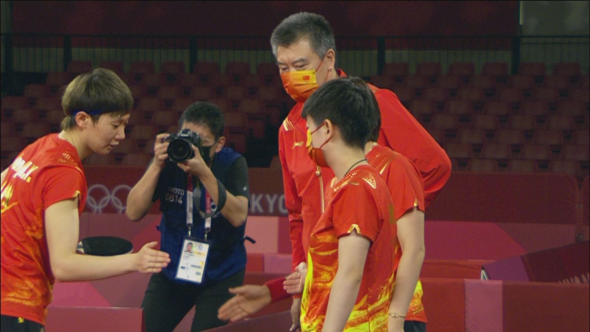 奧運乒乓女團 中國3:0新加坡