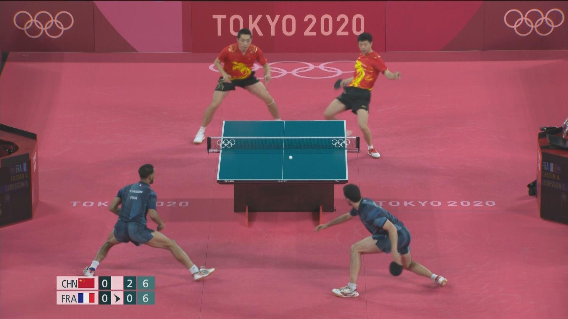國家隊晉級男子乒乓球團體4強