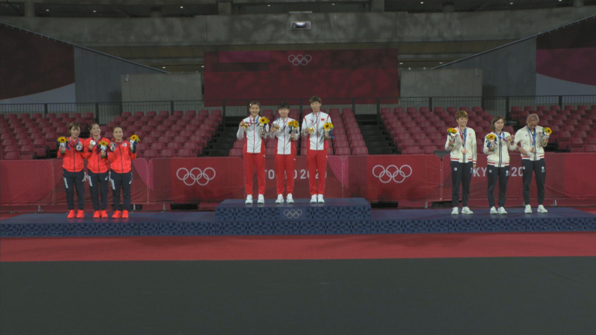 女子乒乓球團體賽 國家隊挫日本摘金