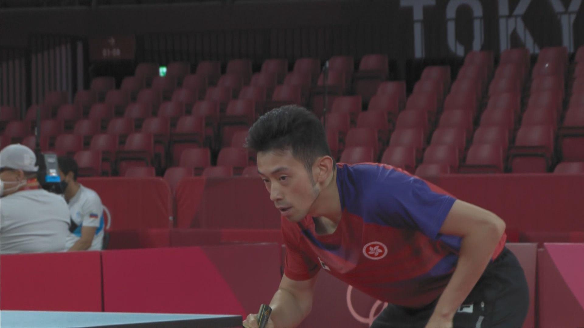 乒乓球男單 港隊黃鎮廷三十二強止步