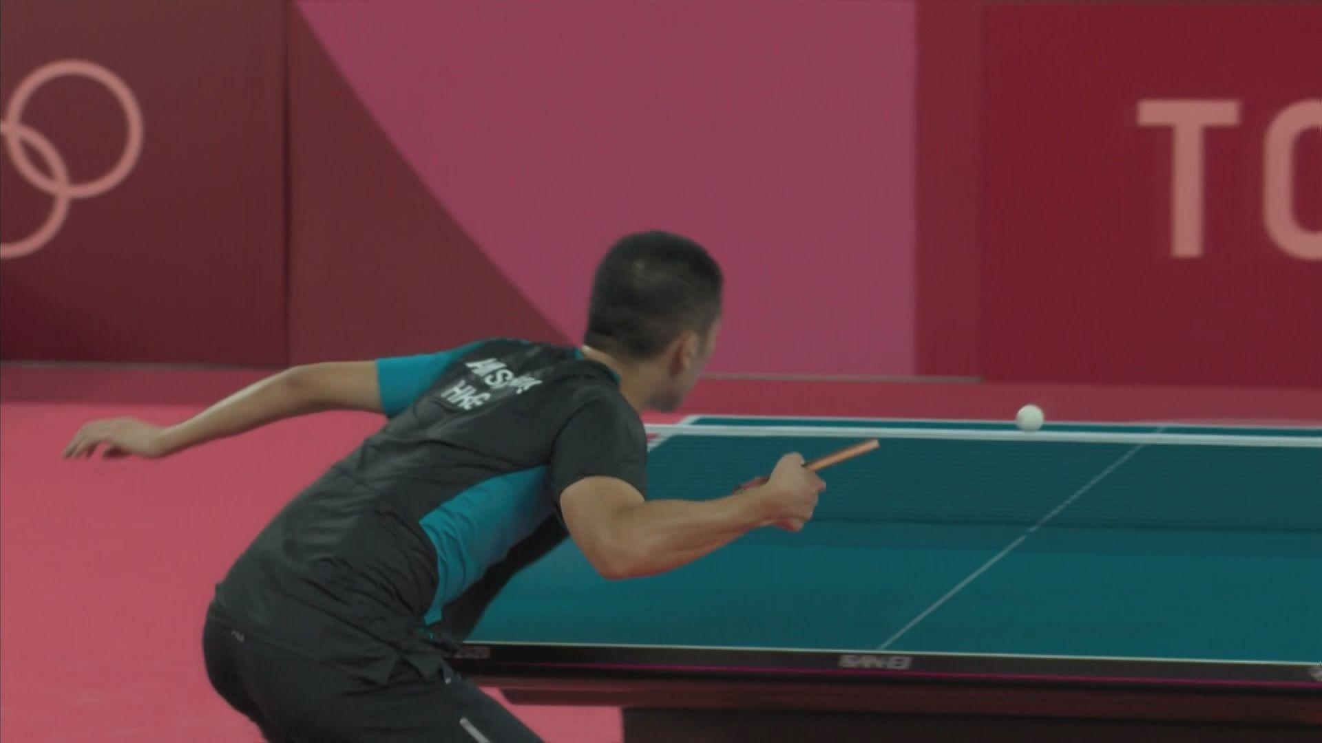 林兆恒乒乓球男單4比3反勝 晉身三十二強