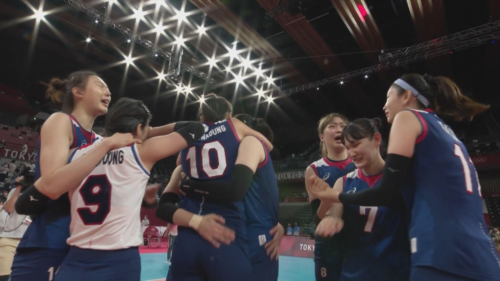奧運女子排球八強 南韓3:2土耳其
