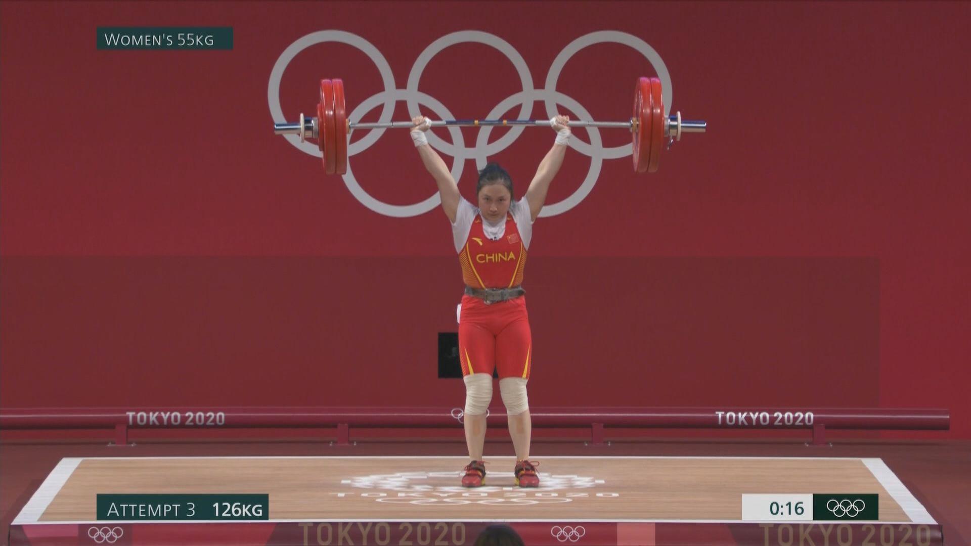 國家隊廖秋雲女子55公斤級舉重屈居銀牌