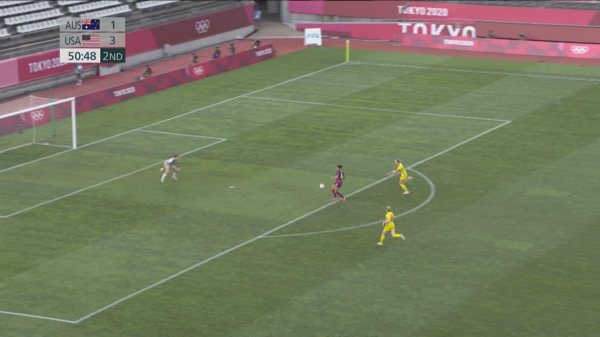 奧運女足季軍戰 澳洲3:4美國
