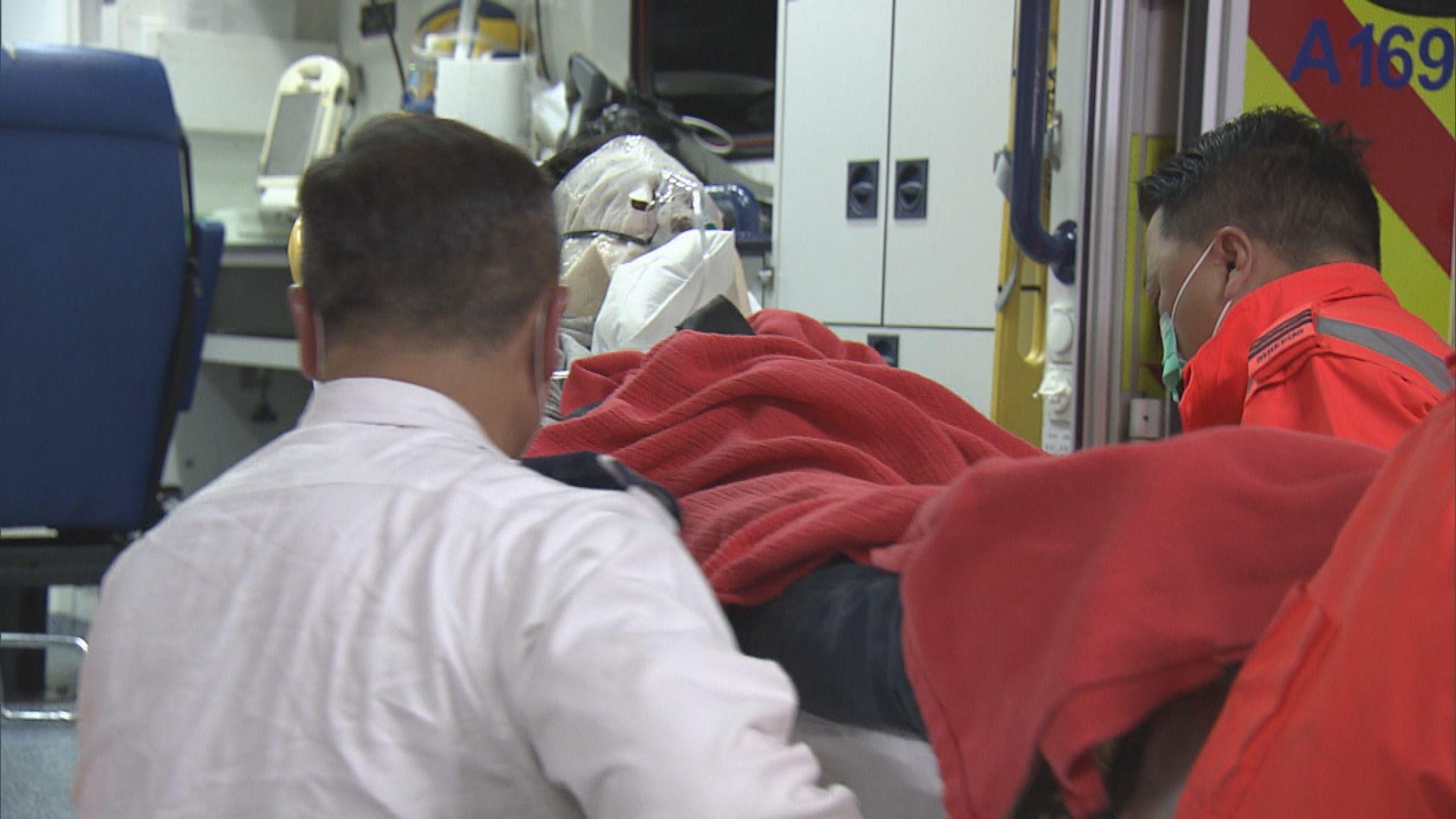 灣仔工業意外一名工人燒傷送院