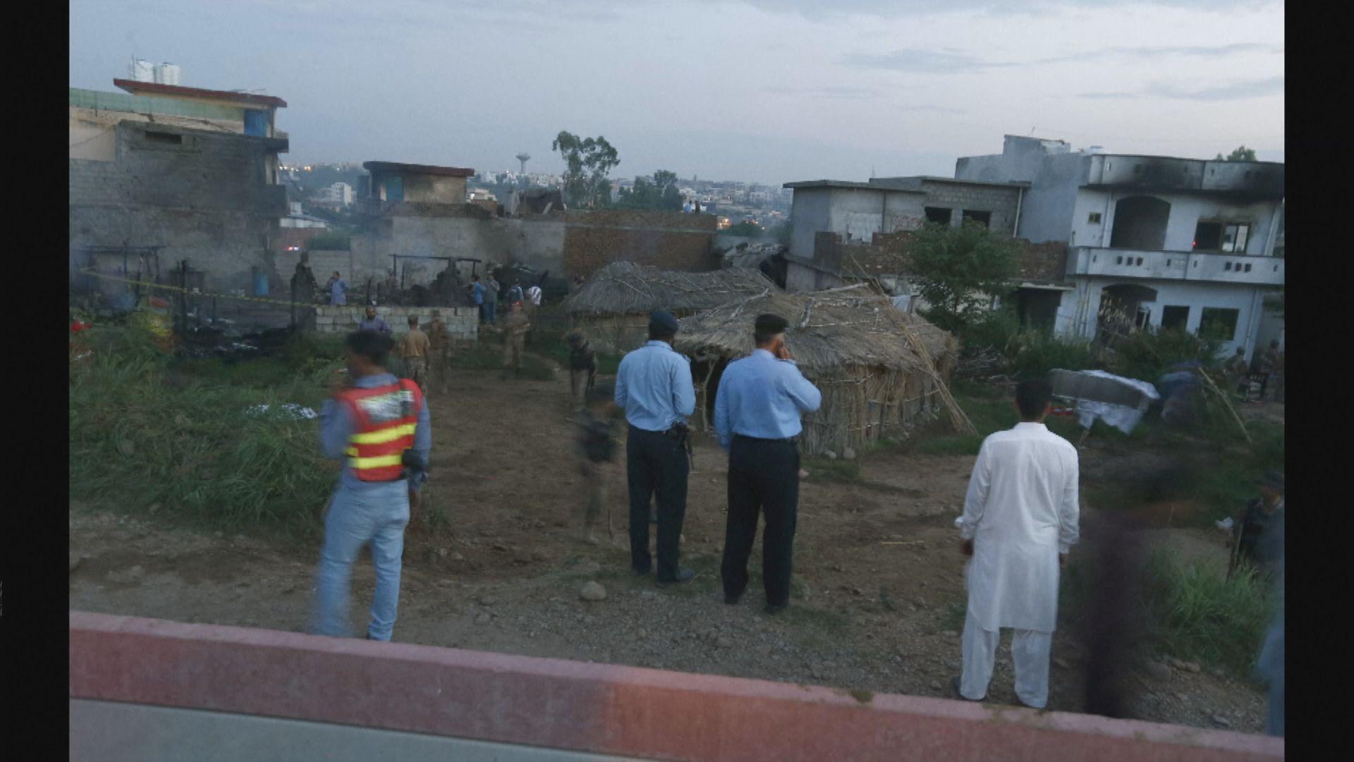 巴基斯坦軍機墜落民居 至少17死