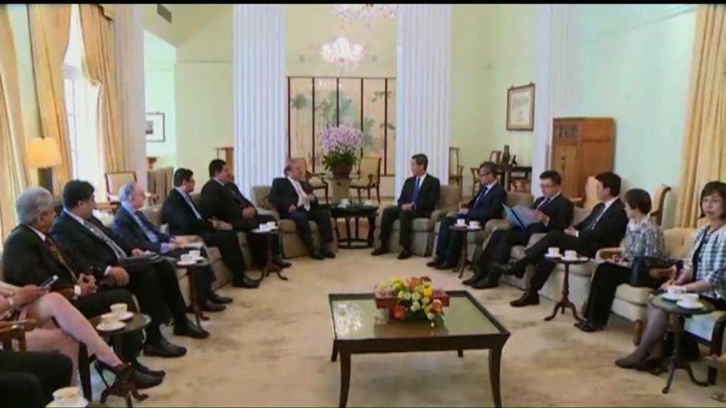 巴基斯坦總理謝里夫晤梁振英
