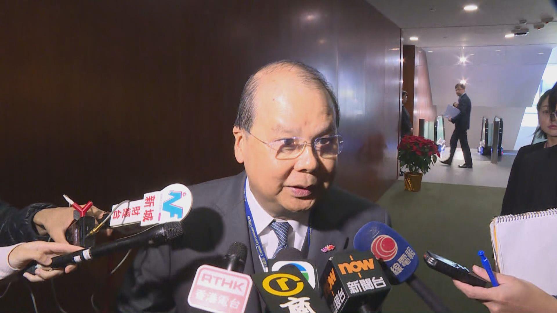 張建宗:若有不清楚地方相信監警會會進一步澄清