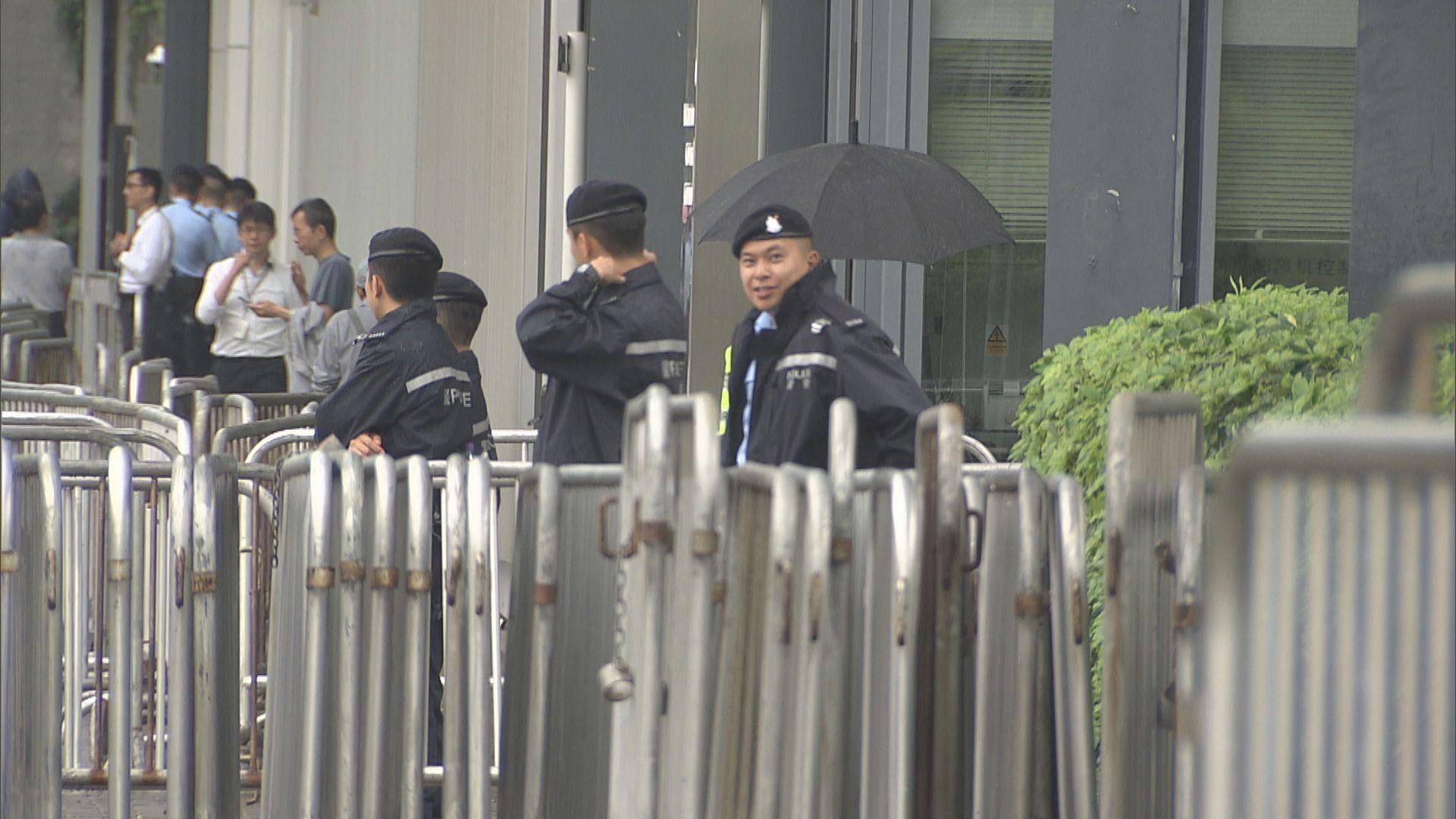 逃犯條例二讀前夕 警方在立會一帶加強保安