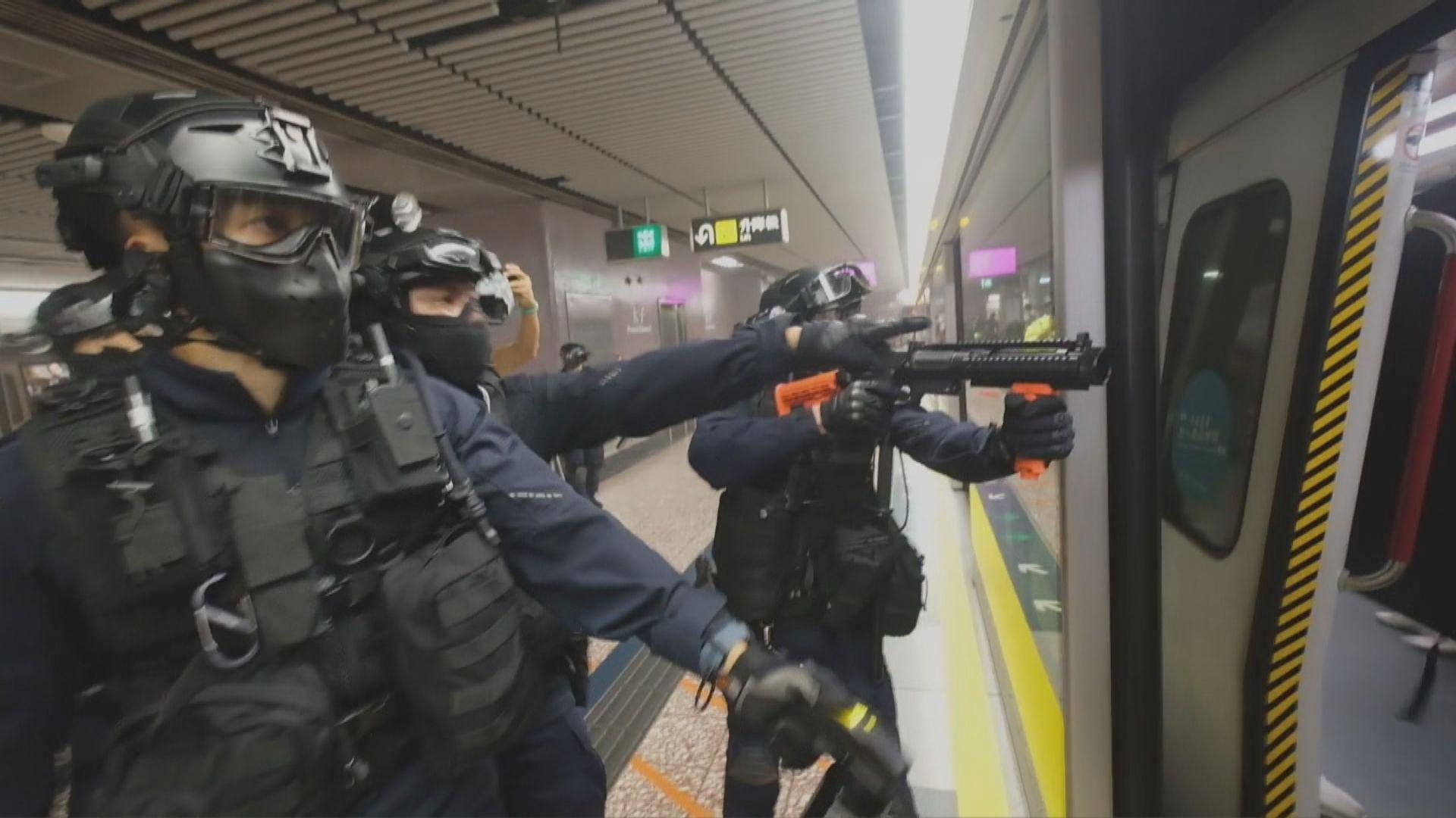 警方昨晚於太子站拘捕40人