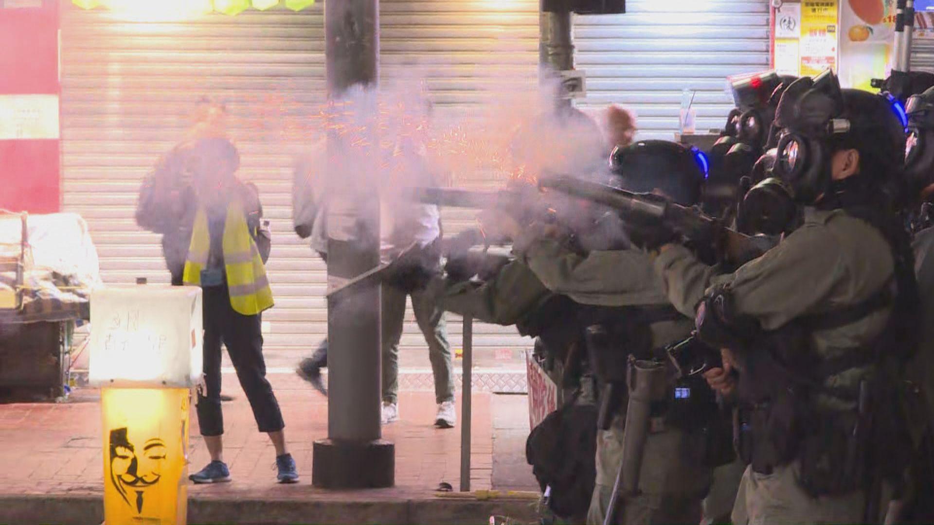 銅鑼灣有人群聚集 警方發射催淚彈