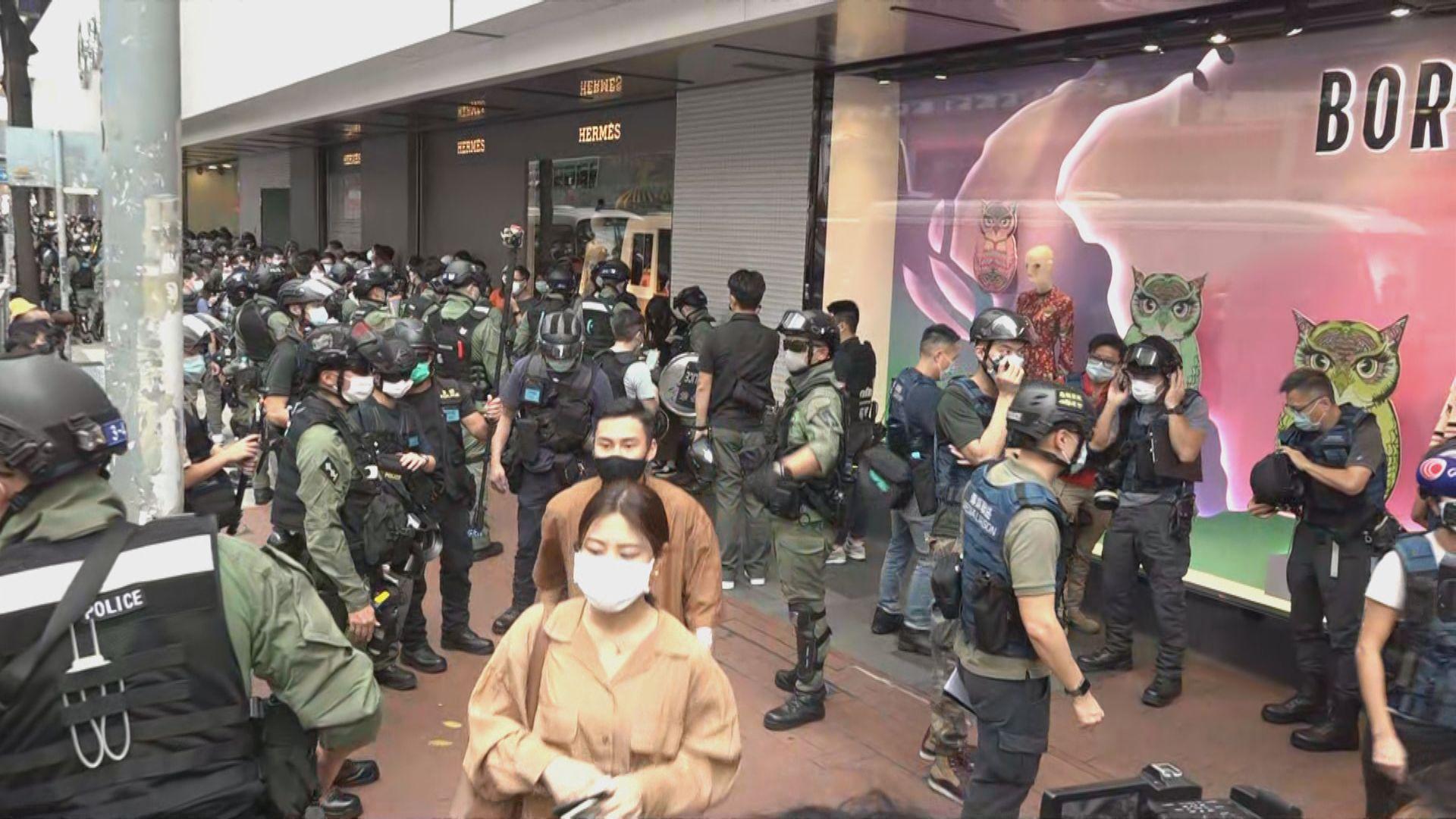 警方銅鑼灣拘逾60人 涉非法集結