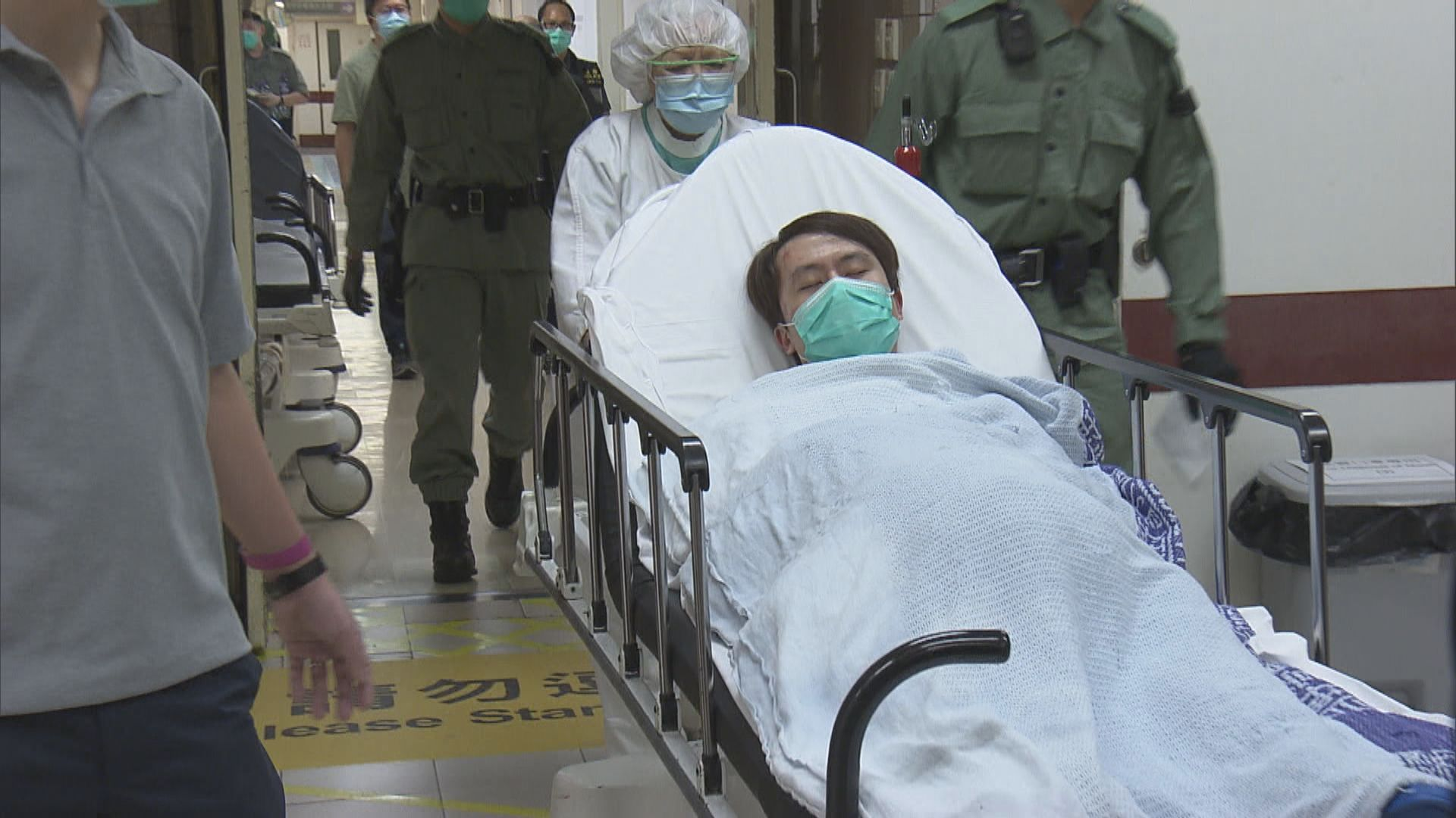昨晚多區人群聚集約230人被捕 鄺俊宇被捕面有瘀傷