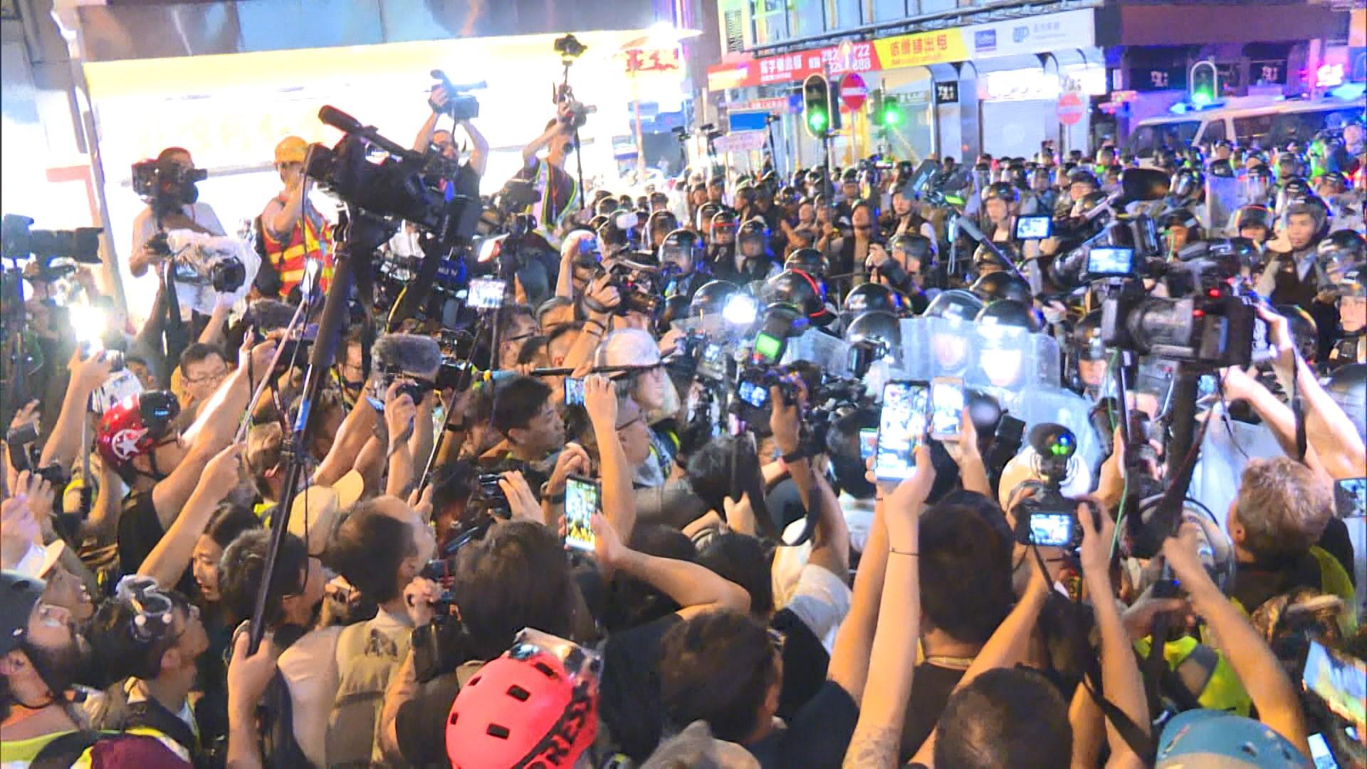 攝影記者協會嚴厲譴責警方清場推撞記者