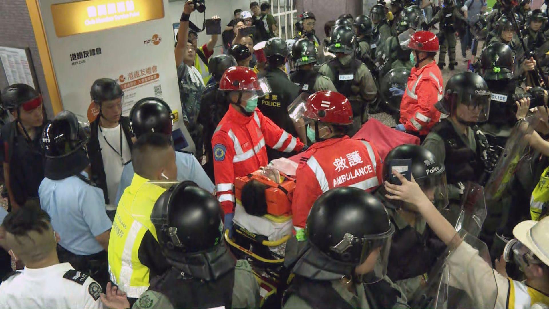 男子太子站被警制服後需送院 頭和頸部受傷