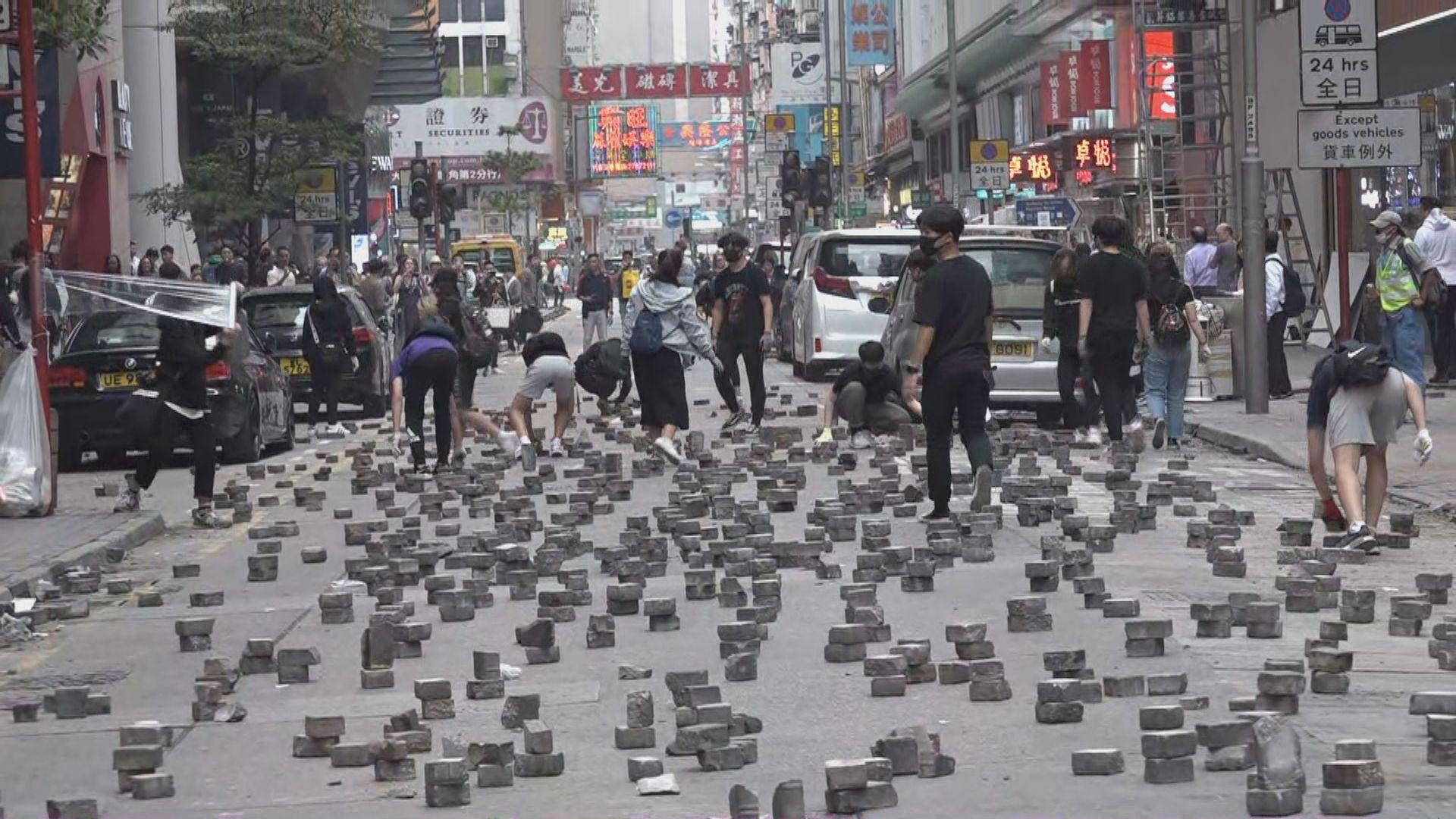 有示威者在旺角堵路