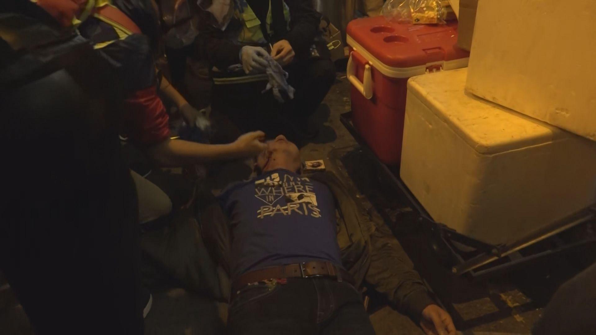 旺角一名男子被毆 防暴警到場處理