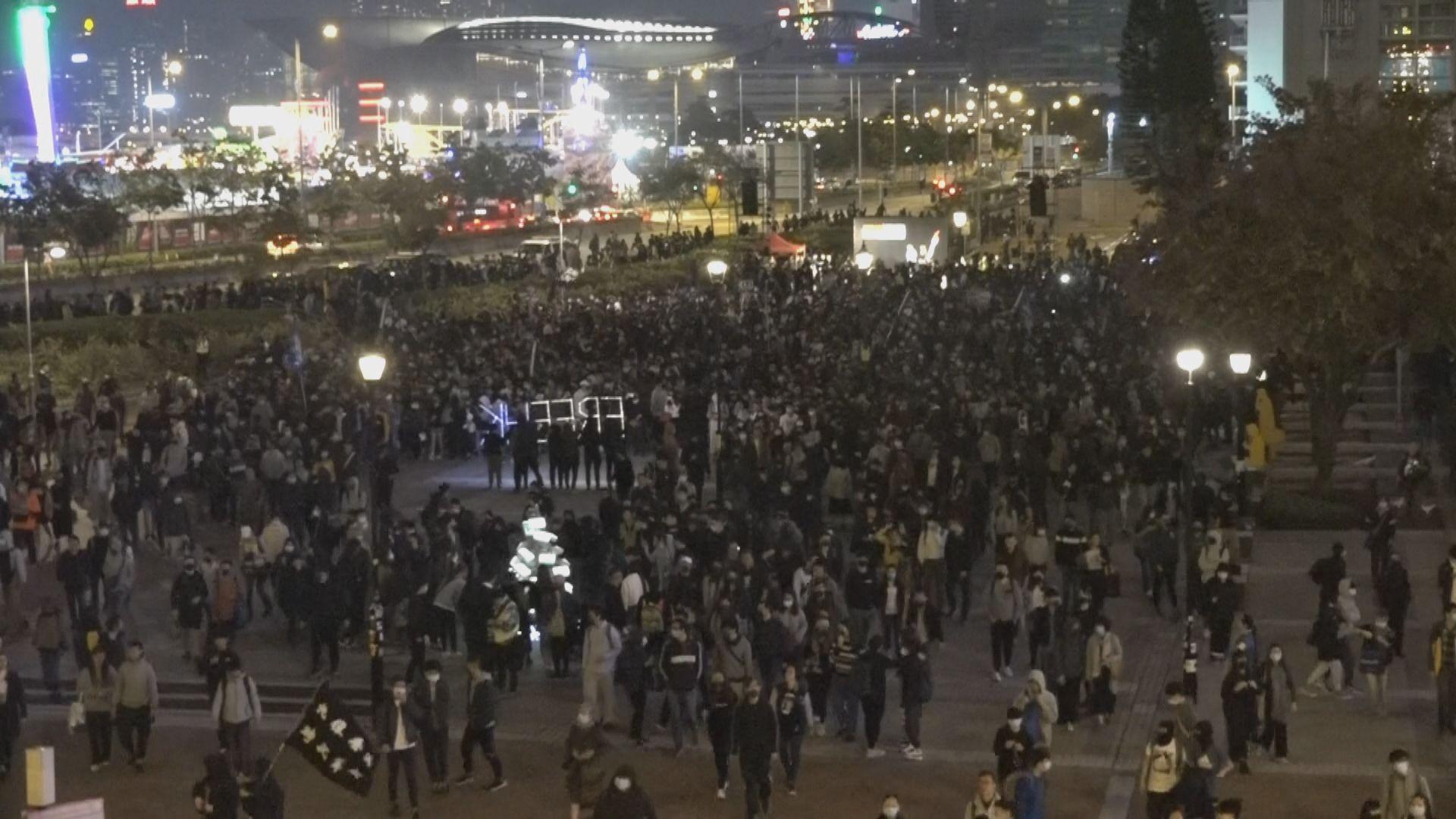 警方指有3千3百人出席聲援星火同盟集會