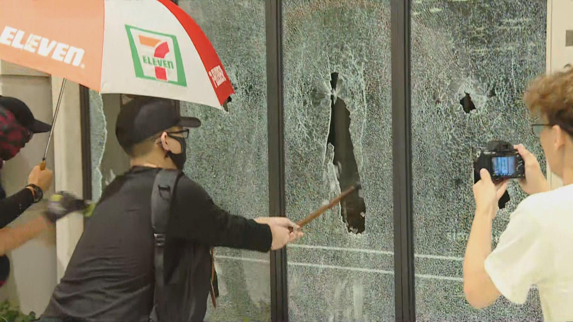 示威者破壞POPCORN部分店舖