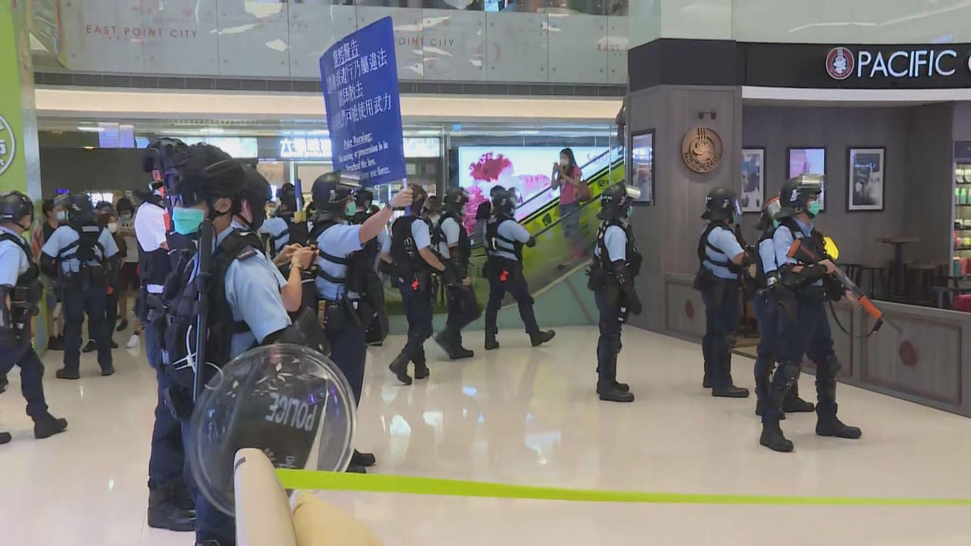 多區商場有人聚集 警稱非法集結在將軍澳商場拘捕多人