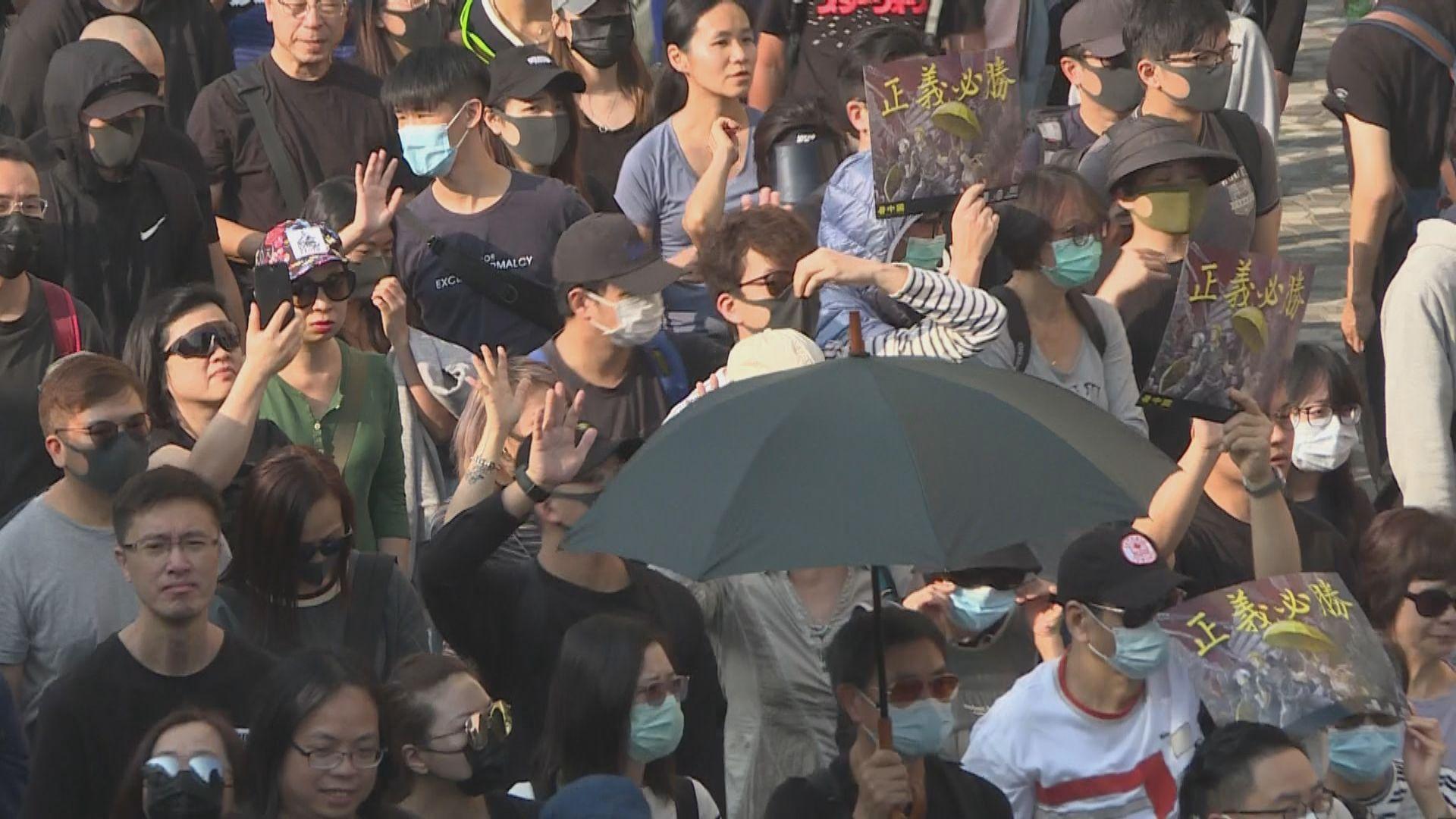 大批市民參加尖沙咀「毋忘初心」大遊行